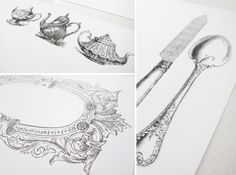 Free printable vintage design paper placemats. Hello, teaparty