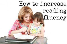 How to Increase Reading Fluency |  RealLifeAtHome.com