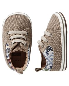"Baby Boy Carter's Sneaker Crib Shoes | <a href=""http://Carters.com"" rel=""nofollow"" target=""_blank"">Carters.com</a>"