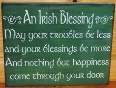 Irish Blessings Primitive Wood Signs Plaques Celtic Ireland Weddings Catholic