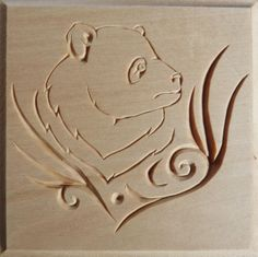 Commemorative chip carved box, panda design - by Marty Leenhouts, www.MyChipCarving.com
