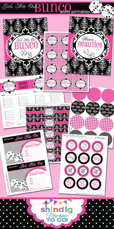 FREE Bunco Printables perfect for you next Girl's Night Out courtesy of Amanda from Shindig Parties. { lilluna.com }