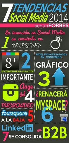 Tendencias socialmedia 2014 #infografía #infographic