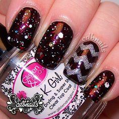 Instagram photo by cdbnails143 #nail #nails #nailart secondari color, wonder color, nail nailart, color mixtur, nail art