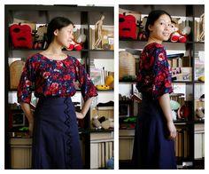 Free raglan sleeve swing top printable pattern downton abbey blouse