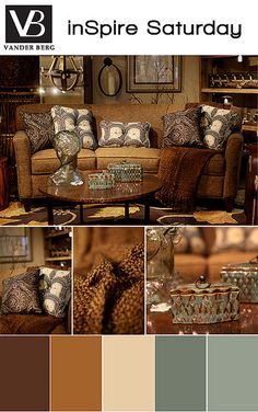 inSpire | Saturday | Living Room | Home Accessories | Color Scheme | Rustic | vanderbergfurniture.com.  #thehouseofvangogh is going to share this.