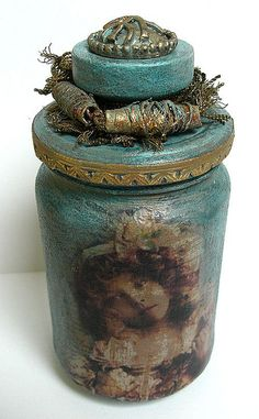 Altered Jar: Here's a jar re-do that I could get into!
