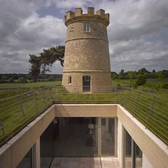 Round Tower courtyard1 Lonely turret adopted and reconversed new houses, castl, towers, man house, architectur, green roof, de mato, mato ryan, round tower
