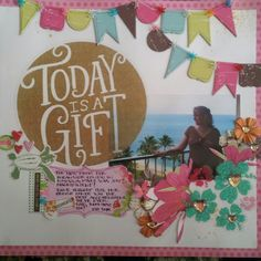 Travel/vacation scrapbook page, julie ann shahin