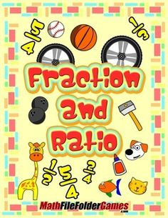 Fractions and Ratios {Math Game} http://www.teacherspayteachers.com/Product/Fractions-and-Ratios-Math-Game-1412800