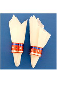 This year, as you pack up your patriotic picnic, you'll have one more festive item to include: stunning patriotic napkin rings. This July 4th craft is quick and easy, and makes a fun Fourth of July activity for parents and child care providers to do with their kids before or during the holiday. http://www.hyglossproducts.com/Fourth-of-July-Crafts-s/302.htm