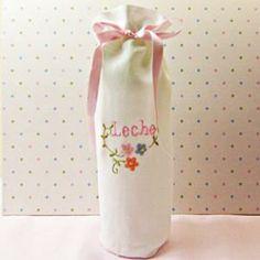 Linen Bottle Cover - Daffy Down Dilly   OregonPatchWorks