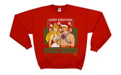 Too awesome for an ugly sweater party // He-Man, She-Ra Christmas sweater