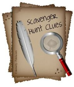 Ideas for how to make clues for a scavenger hunt!