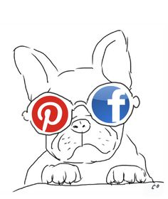 Social media illustration by Chris Olson. #doodle #dogs #pinterest #facebook
