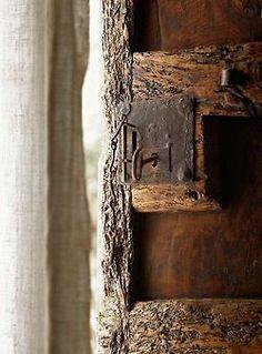 rustic old door lock