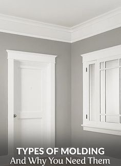 Types of Molding and Why You Need Them. Discover the many types like base trim, quarter round, and scribe, and why you need them to completely finish your remodel.