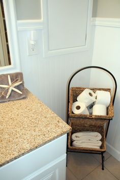 No More Pink Tile: Bathroom Remodel - Remodelaholic | Remodelaholic