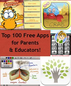 Top 100 Free Apps for Parents/Educators!  http://www.smartappsforkids.com/top-free-apps-for-parentsteachers.html