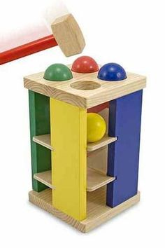Pound and Roll Tower Toddler Toy