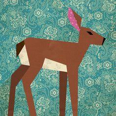 paperpiec, piec block, quilt patterns, paper pieced quilts, papers, quilt block patterns, deer quilt block, piec quilt, deer paper