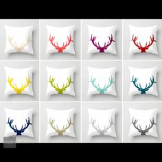 Add some colour to your decor with the Modern Taxidermy pillow collection by Mod Pieces. Handmade in Canada!