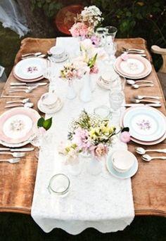 Tea Party Bridal Shower Centerpieces | Tea Party Bridal Shower (Spring, decor, garden, party, reception ...