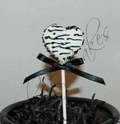 Printed Heart Cake Pops