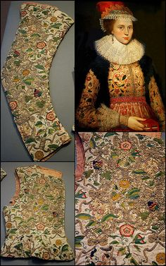 Margaret Layton and her embroidered jacket 1600 @  Victoria and Albert Museum - British Galleries