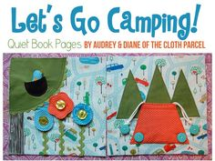 Let's Go Camping Quiet Book Pages