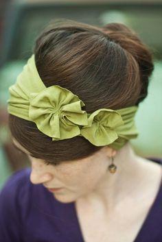 Rosette Jersey Headband