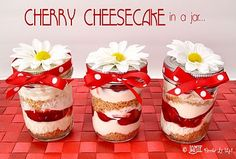 Cherry Cheesecake in a Jar!