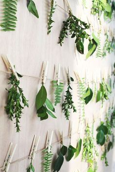 Greenery wedding dec