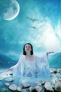 """Let the Earth Mother take care of you, she will wash away your tears, keep you grounded in your life, love you unconditionally, and provide the hope for your dreams to come true.""  - Jasmeine Moonsong  **original artwork by: anaRasha http://anarasha.deviantart.com/**  http://wiccanmoonsong.blogspot.com/2014/03/daily-message-march-31-2014.html"