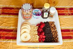 Fun and healthy apple pizza bar! #apples #snack #kids #healthy
