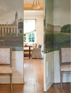 Secret door + murals