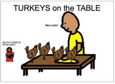 Turkeys Everywhere---printable book