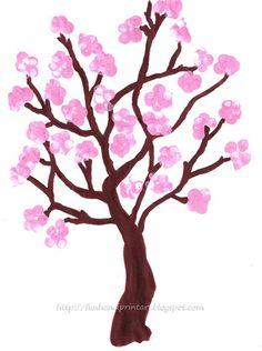 fingerprint spring cherry blossom tree #spring #art