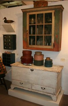 18th century Hanging Cupboard