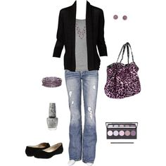 Untitled #36, created by #bstowe87 on #polyvore. #fashion #style #Vince Silver Jeans