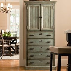 I pinned this Down Home Kitchen Cabinet in Seafoam from the Paula Deen Home event at Joss and Main!