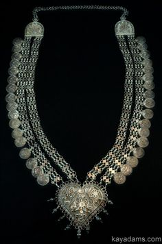 Antique Sterling Silver Ceremonial Indian Collar, mid-1800's.  Want this soooo bad. Anthill Antiques.