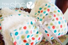 Cotton Print and Minky Blanket