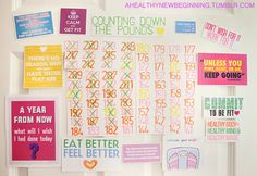 """I think this is a fun idea for a """"goal"""" (of any kind) calender!  Love the positive affirmations around. :-) ns"""
