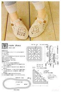 Crochet Slippers - Chart ❥ 4U // hf