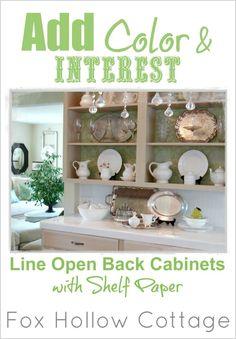 DIY Home Decorating Tip: Open Back Kitchen Cabinets