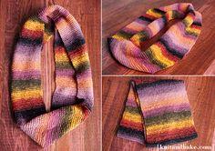 easy beginner's garter stitch cowl knitting pattern [ www.knitandbake.com ]