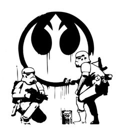 Banksy Troopers by Don Calamari #starwars #stormtrooper #banksy #print #art