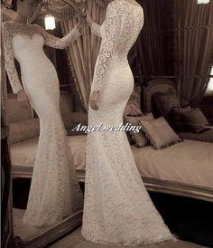 Wedding Dress Vintage Lace Wedding Dress by AngelWeddingDress, $368.00