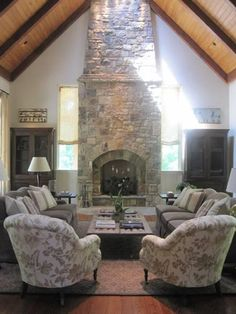 cabin living, great rooms with fireplace, living room fireplace, stone fireplaces
